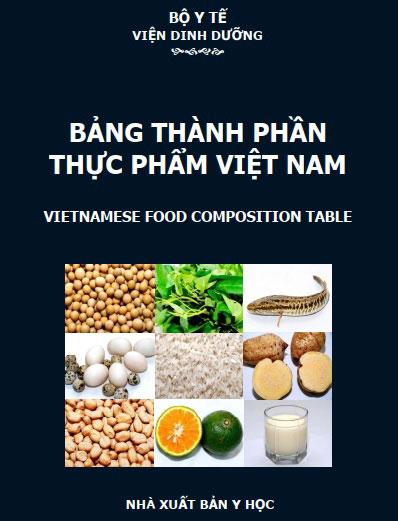 bảng thành phần thực phẩm Việt Nam