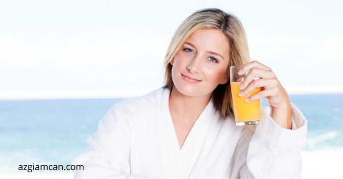 uống nước cam có giảm cân không