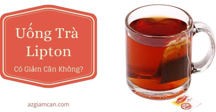 uống trà lipton có giảm cân không
