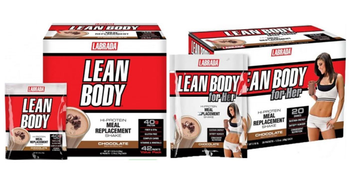 thực phẩm chức năng thay thế bữa ăn lean body và lean body for her