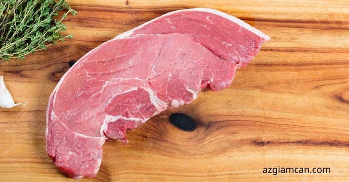 100g thịt thăn ngoại trên/đùi thăn bò có bao nhiêu calo