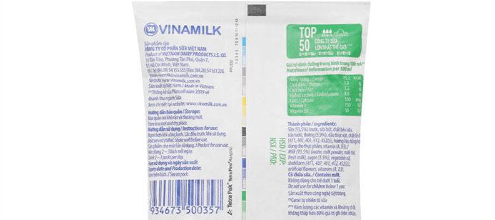 100ml sữa tươi có đường vinamilk bao nhiêu calo