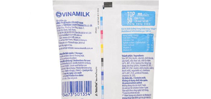 100ml sữa tươi không đường có bao nhiêu calo